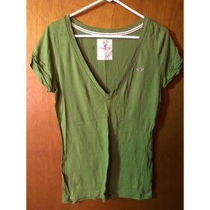 Green Hollister T-Shirt. Women's Size L